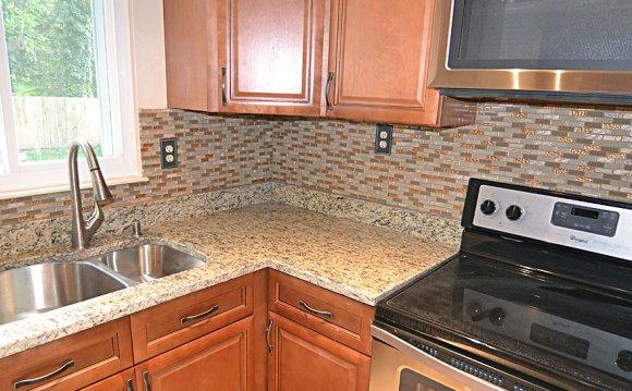 Brown glass stone tile