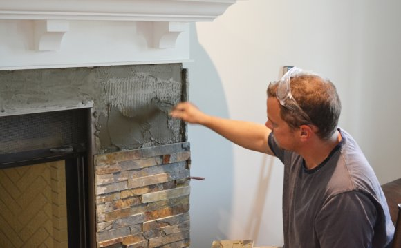 Our DIY Fireplace - Installing