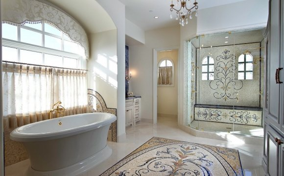 Luxury Bathroom with Custom