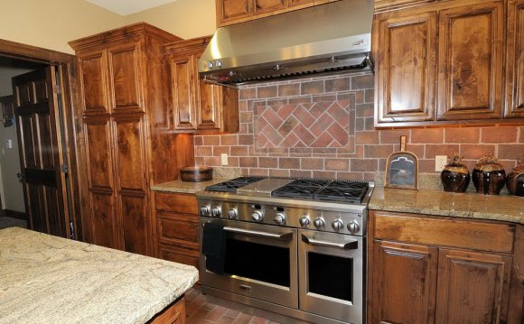 Faux Stone Backsplash With