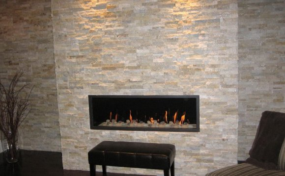 Tiled Fireplace Wall JC