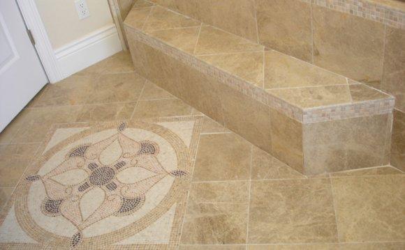 Granite tile flooring install