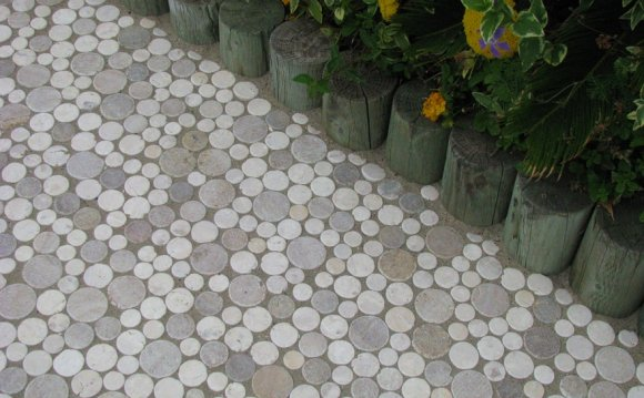 Moon stone mosaic tile outdoor