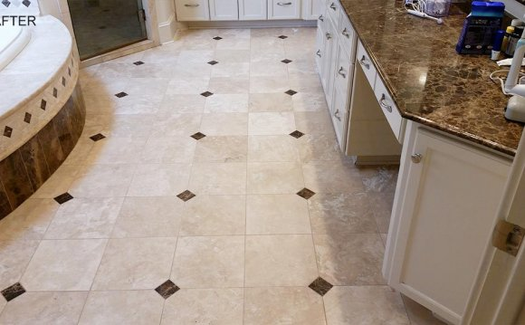 Bathroom Travertine Cleaned