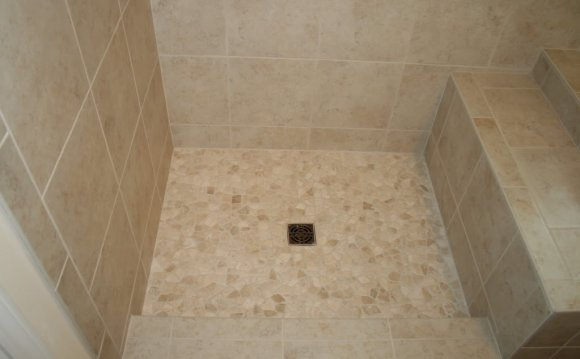 Tile Pebble Stone Shower