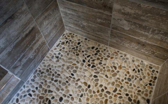 Pebble stone tile for shower floor - Stone Installers
