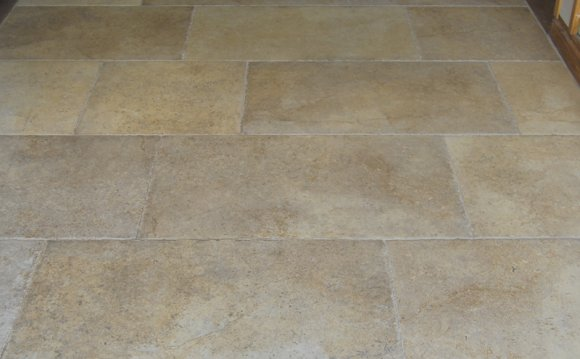 With porcelain floor tile