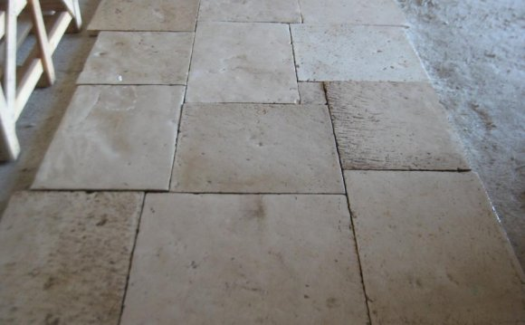 Salavaged stone floors