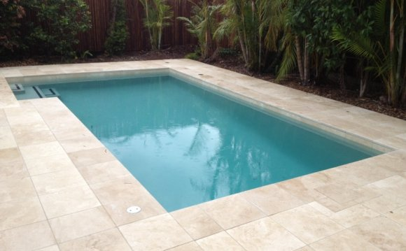 Spellbinding Travertine Pool