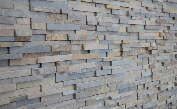 Stacked stone veneer kitchen