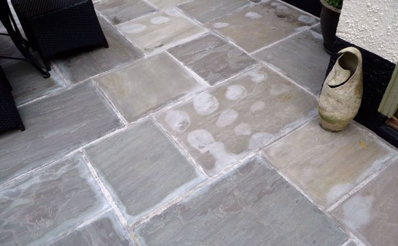 Natural Stone Patio with Spot