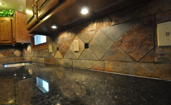 Image of: Stone Tile Kitchen