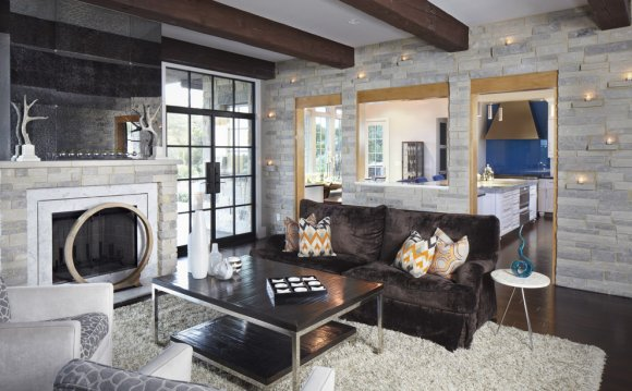 Stacked Stone Wall Tile Living