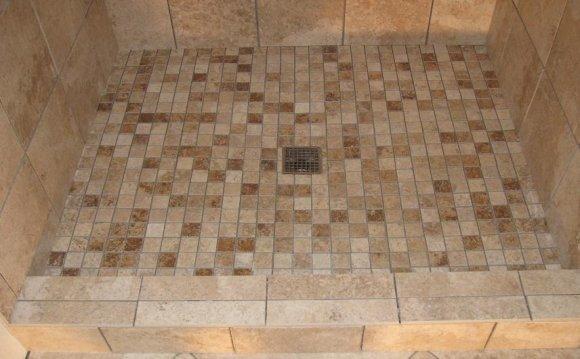 Tile for custom shower pan