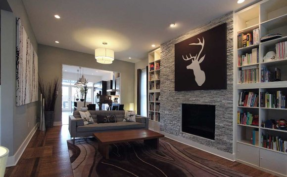 Stone tiles fireplace Ideas