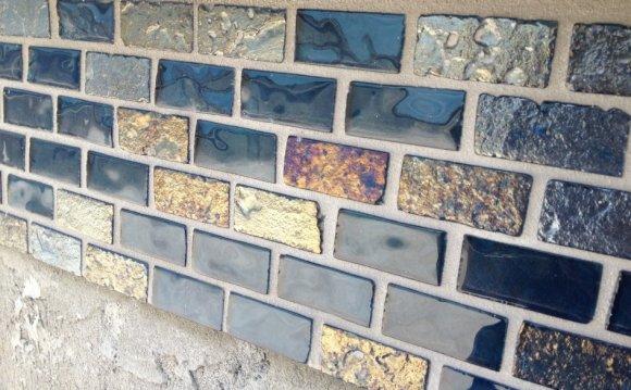 Grouting Stone Mosaic tiles