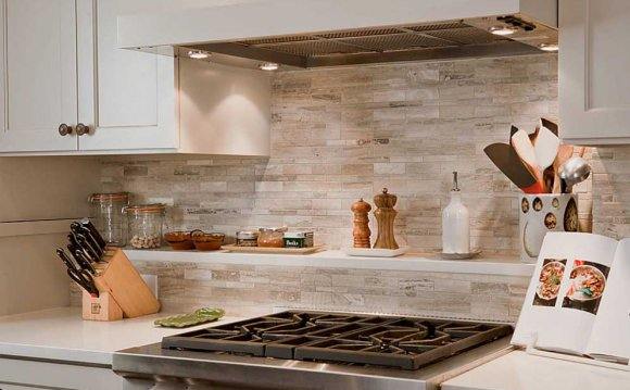 Thin stone tile for backsplash