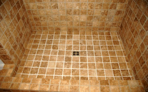 Shower floor tiles