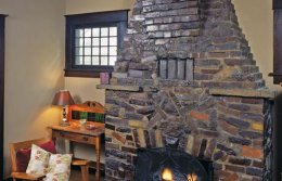 "Clinker bricks are mixed with other bricks in a method of masonry generally ""eccentric brickwork,"" which becomes less eccentric as it moves up into the chimney. Just over the firebox, bricks form the letter the, the first for the very first proprietors."