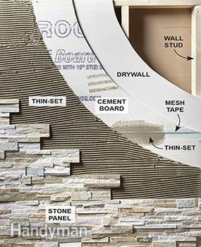 Create a Faux rock Accent Wall