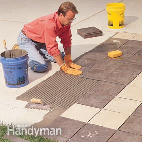 Embed the tile in thinset once you develop an outdoor patio with porcelain tile.