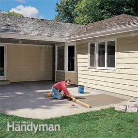 Fill reasonable spots once you develop an outdoor patio with porcelain tile.