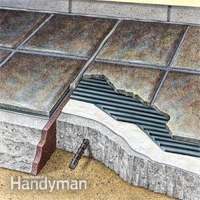 Follow this cutaway once you build an outdoor with porcelain tile.