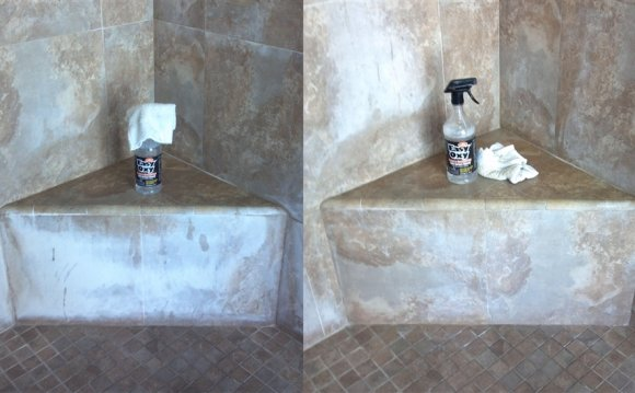 Cleaning stone tiles in shower
