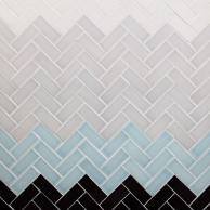 herringbone tile in a gradation structure