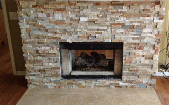 Stone Tile fireplace Front