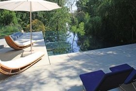 Lewis Aquatech Pools sandstone pool deck