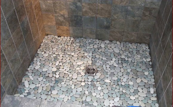Stone tile for shower flooring Lowes