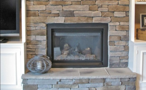 Airstone Tile for fireplace Makeover