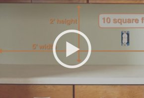Measure your wall surface - Create a Tile Backsplash