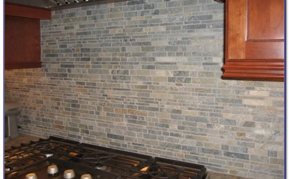 Natural Stone Tile Backsplash