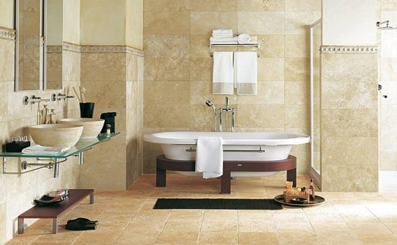 Natural stone Tile bathroom