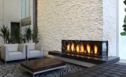 Norstone outdoor rock Fireplace