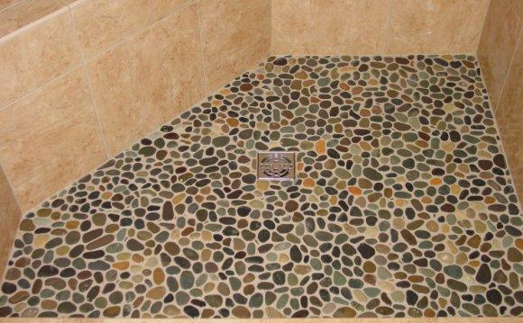 Pebble Stone Shower Floor Installation