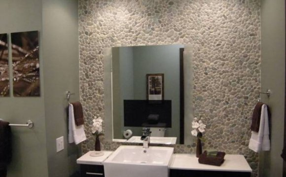 Pebble stone bathroom tiles
