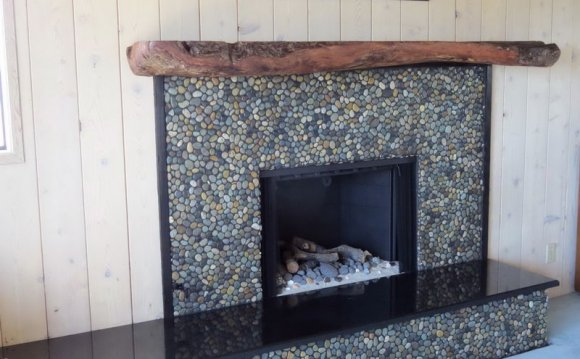 Pebble stone Tile for fireplace