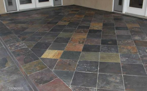 Stone tiles for outdoor steps