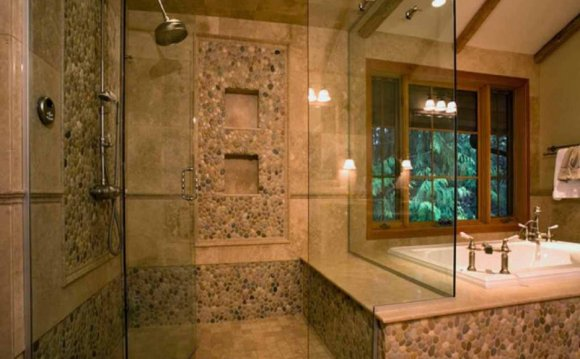 Stone tiles for shower walls