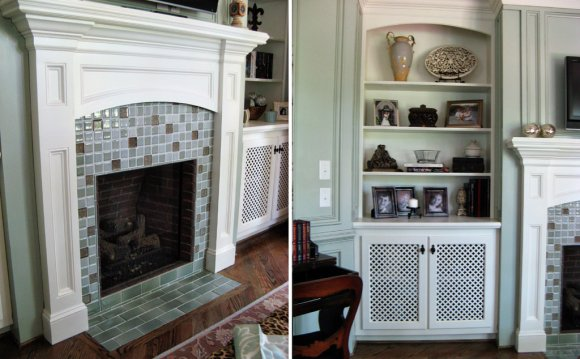 Stone Tile fireplace Surround Ideas