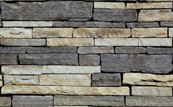 Textured stone wall tiles