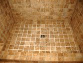 Cleaning stone tile shower floor