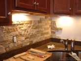 How to put up stone tile backsplash?