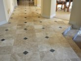 Installing natural stone tile floor