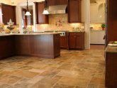 Installing Travertine tile floor