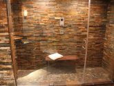 Ledgestone tile in shower