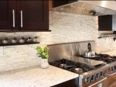 Natural stone backsplash Ideas
